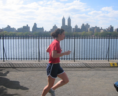Me Running in  Central Park