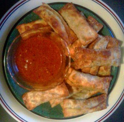 Let's not forget about egg rolls. This was my biggest accomplishment.