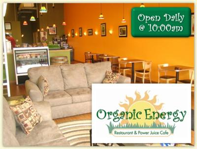 Relax at The Organic Energy Restaurant