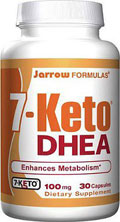 bottle of dhea capsules