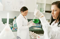 scientists conducting lab tests