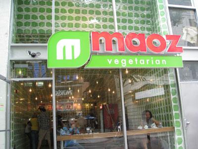 Maoz Vegeterian Storefront